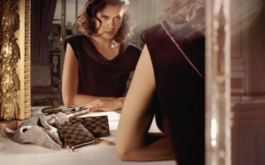 Laetitia Casta Louis Vuitton Winter 09 ads