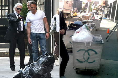 Lagerfeld Chanel Garbage Container
