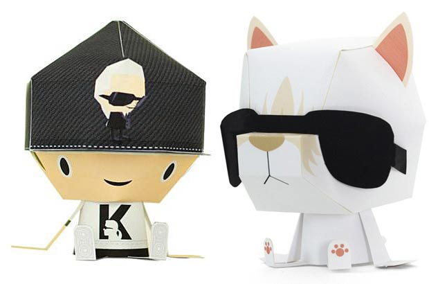 Lagerfeld Shin Tanaka collaboration paper toys