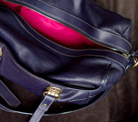 Lancel Bise en Ville bloggers bag inside