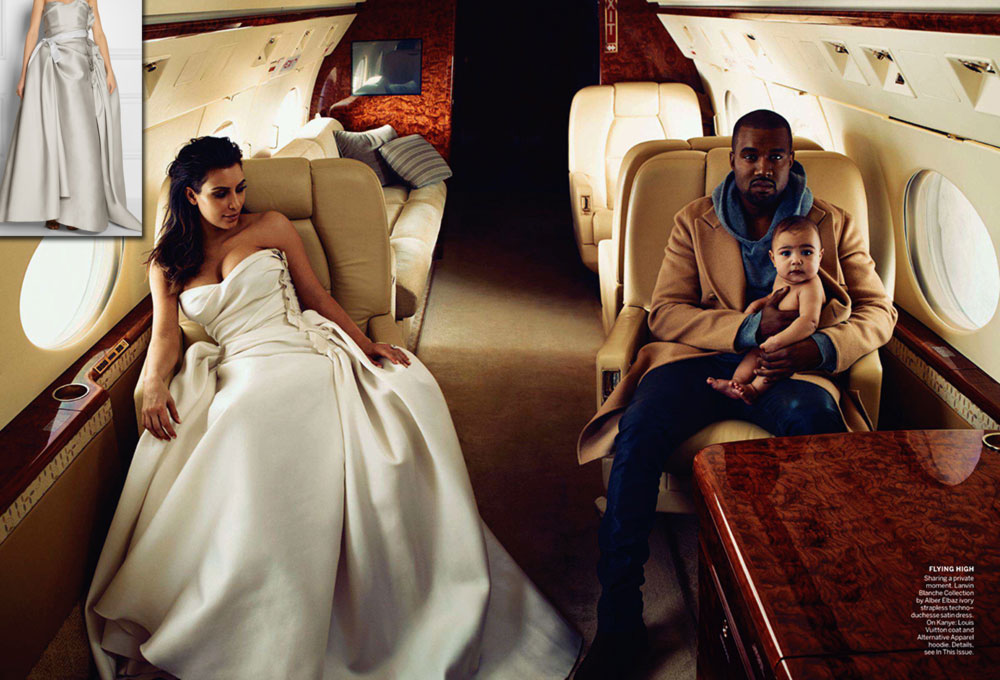 Lanvin bridal dress worn by Kim Kardashian Vogue April 2014