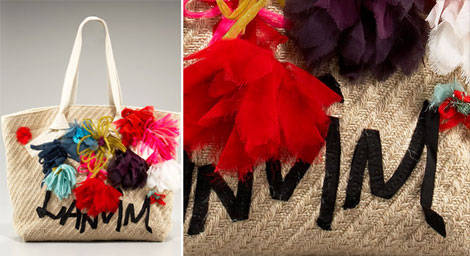 Lanvin flowered tote