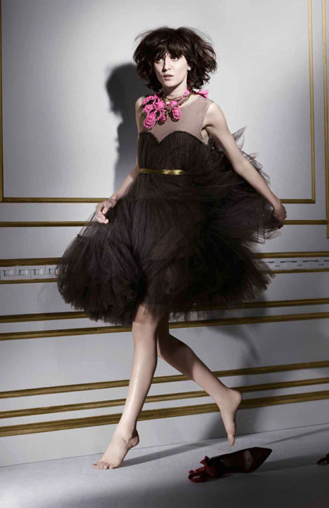Lanvin H M winter 2010 collection black dress