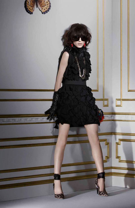 Lanvin H M winter 2010 collection black frills dress