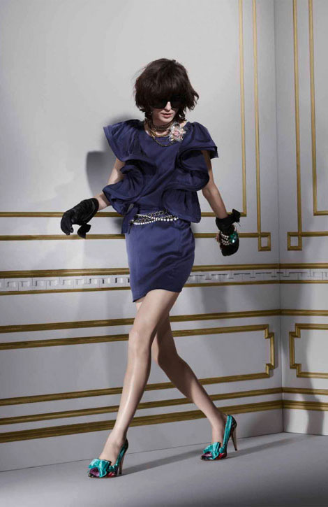 Lanvin H M winter 2010 collection blue dress