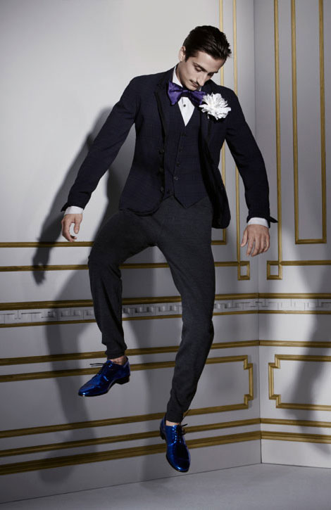 Lanvin H M winter 2010 collection men blue shoes