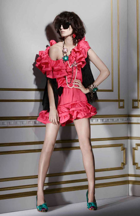 Lanvin H M winter 2010 collection pink dress