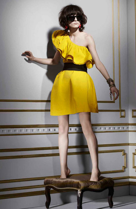 Lanvin H M winter 2010 collection yellow dress