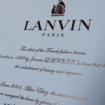 Lanvin Musical Bride Snowball label
