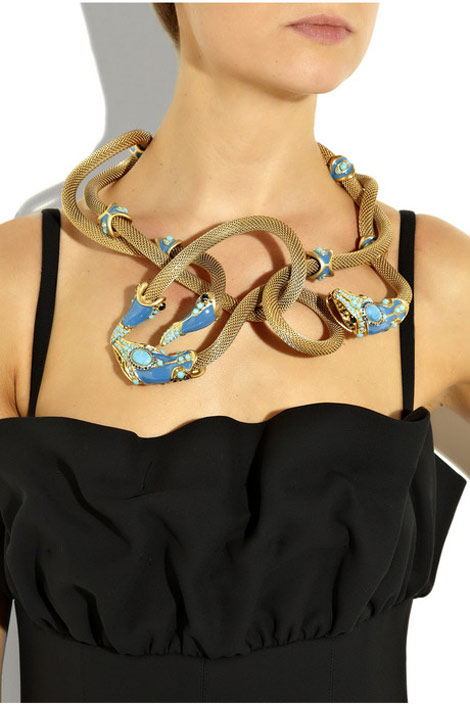 Lanvin twisted snake necklace