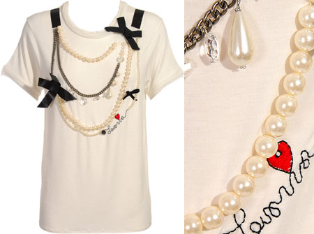 Lanvin White Necklace T Shirt