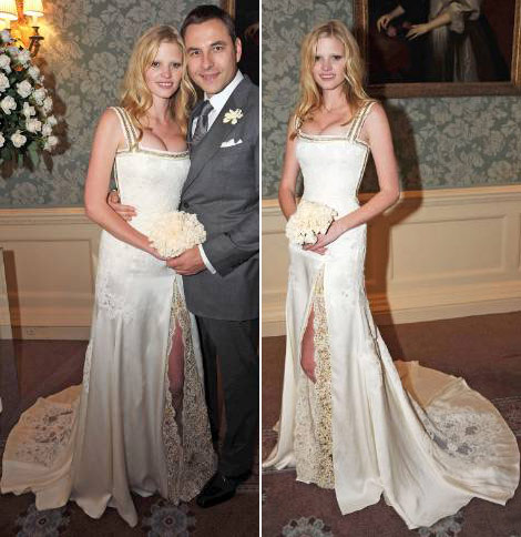 Lara Stone Givenchy wedding dress full
