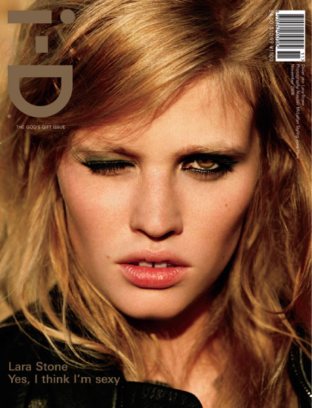 Lara Stone I D magazine November 2008 cover