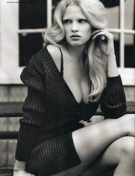 Lara Stone i D Magazine Winter 2009