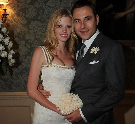 Lara Stone Riccardo Tisci Wedding dress