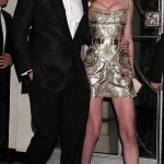 Lara Stone Riccardo Tisci Wedding reception golden dress