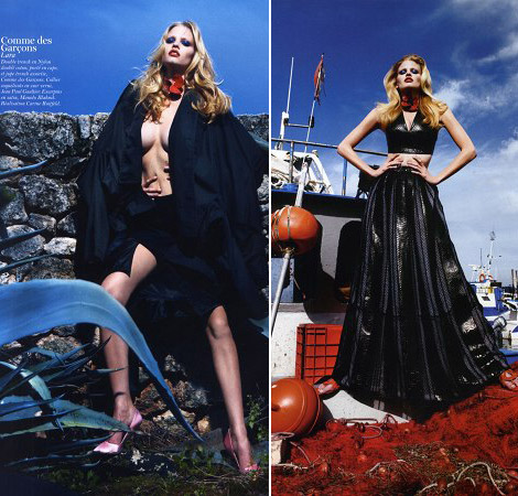 Lara Stone Vogue Paris February 2011 photos