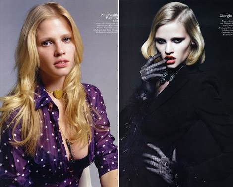Lara Stone Vogue Paris February 2011 styled by Carine Roitfeld