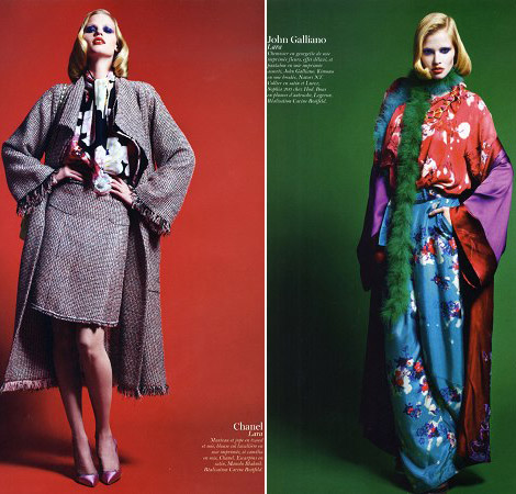 Lara Stone Vogue Paris February 2011