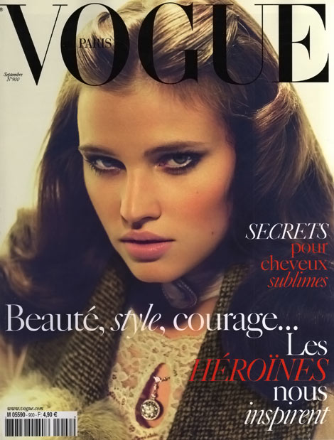 Lara Stone Vogue Paris September 2009 cover