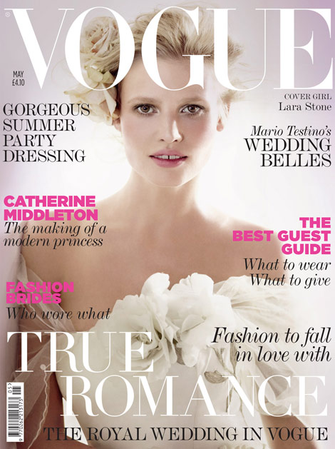 Lara Stone Vogue UK May 2011 cover