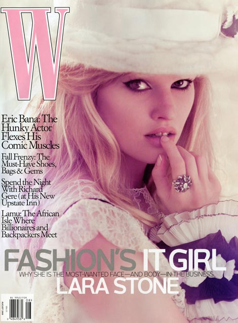 Lara Stone W August 2009 cover