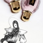 Laura Laine Elle Russia March 2010 drawings YSL perfume