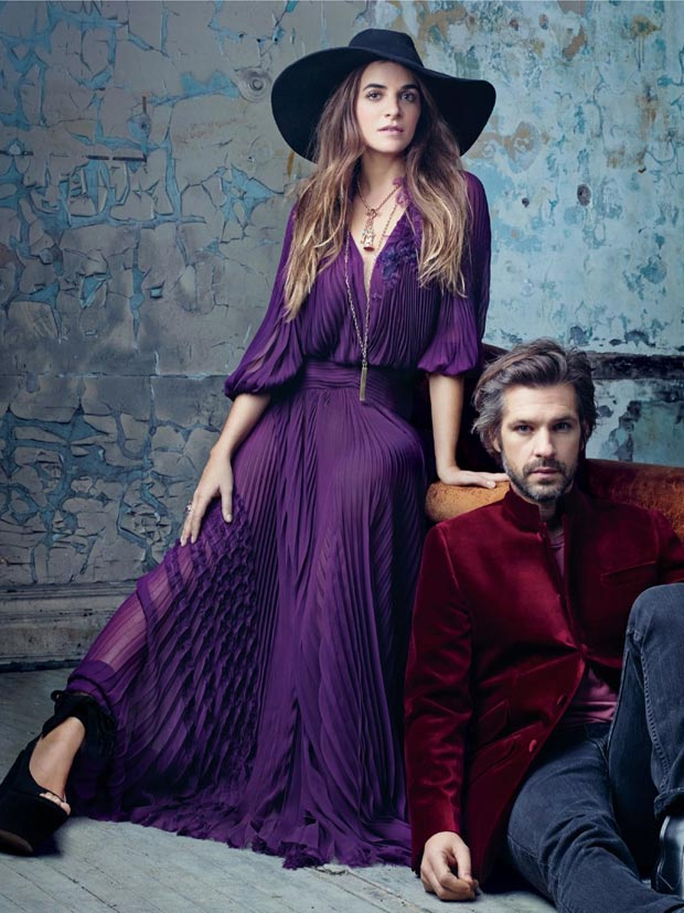 Laure Heriard Dubreuil and boyfriend Aaron Young in Vogue