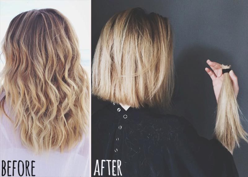 Lauren Conrad new haircut before after