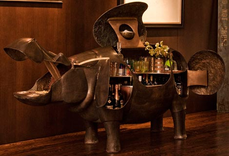 Fashion Interior Inspiration: Lauren Santo Domingo's $500.000 Hippo Bar
