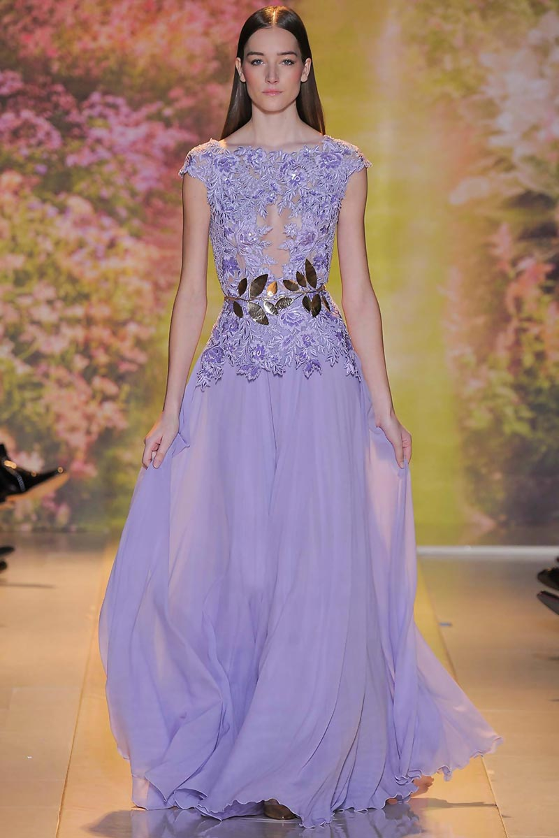 lavender evening dress Zuhair Murad Spring 2014 Couture
