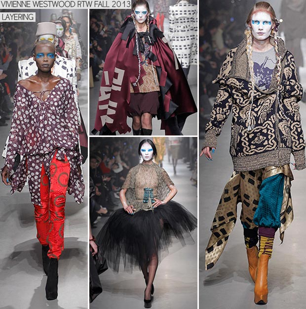 Unconventionally Layering Fall 2013 Vivienne Westwood Collection