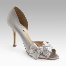 Le Silla Satin Pump With Bow