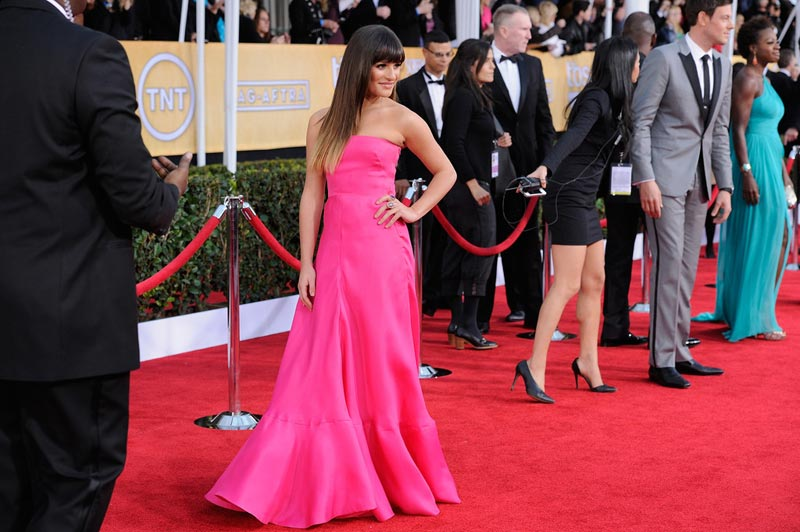 Lea Michele pink dress 2013 SAG Awards