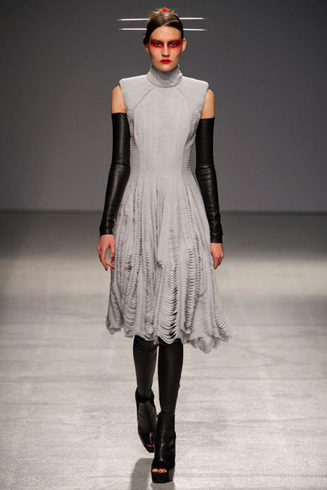 leather arm warmers Gareth Pugh Spring Summer 2013