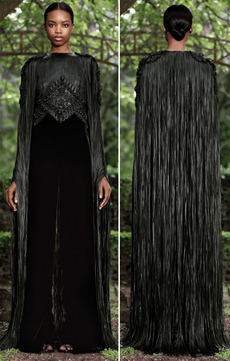 leather fringes Givenchy Fall 2012 Haute Couture