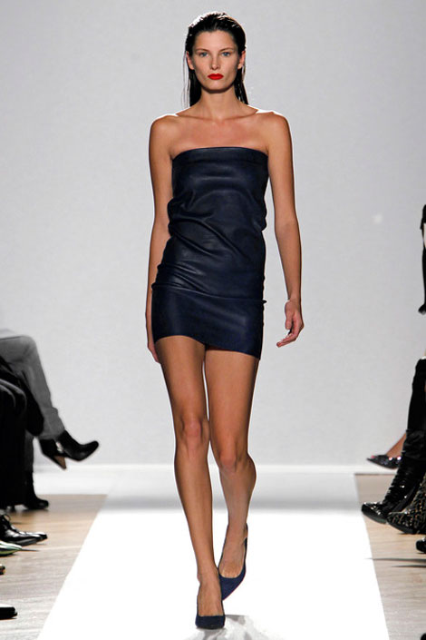 leather minidress Barbara Bui Spring 2013