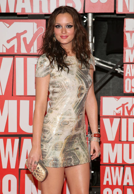 Leighton Meester makeup MTV VMA 2009