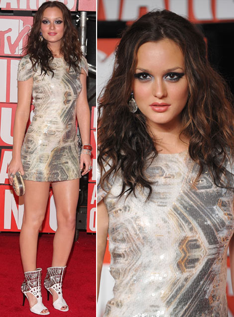 Leighton Meester's Sequined Dress For MTV VMAs 2009
