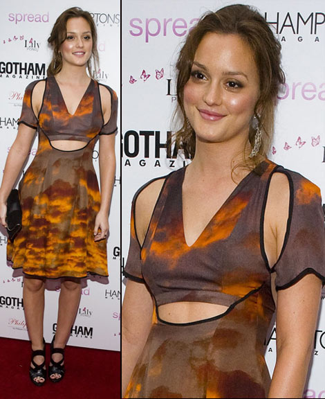 Leighton Meester Spread Christopher Kane dress