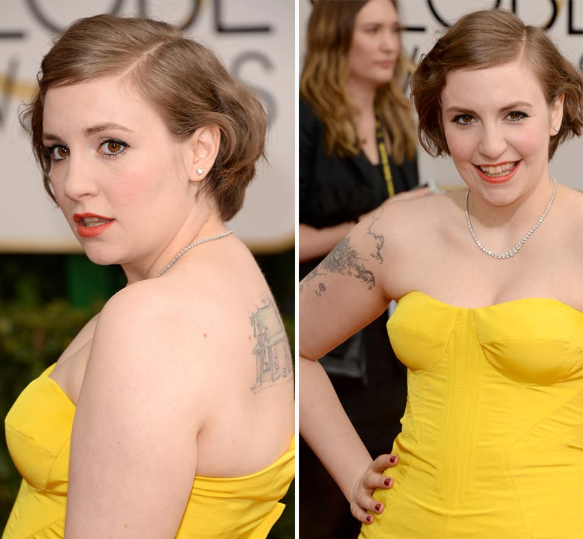 Lena Dunham nails 2014 Golden Globes