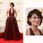 Lena Headey 2015 Emmy Awards Red Carpet hairdo