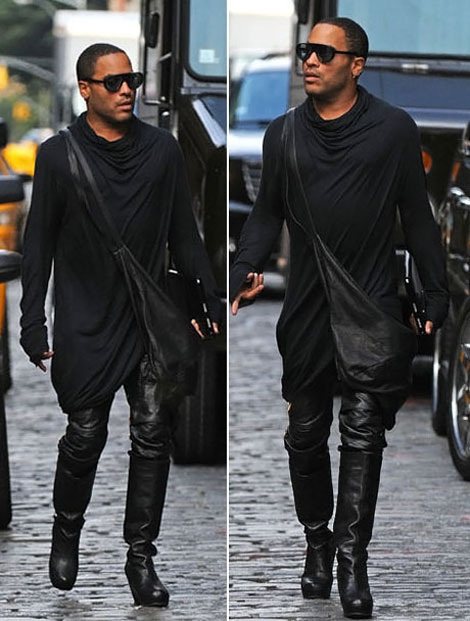 Lenny Kravitz Rick Owens High Heels boots Dress