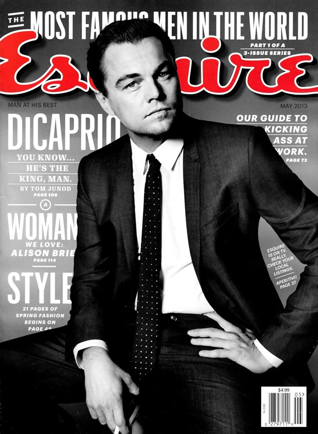Leonardo di Caprio Great Gatsby Esquire May 2013 cover