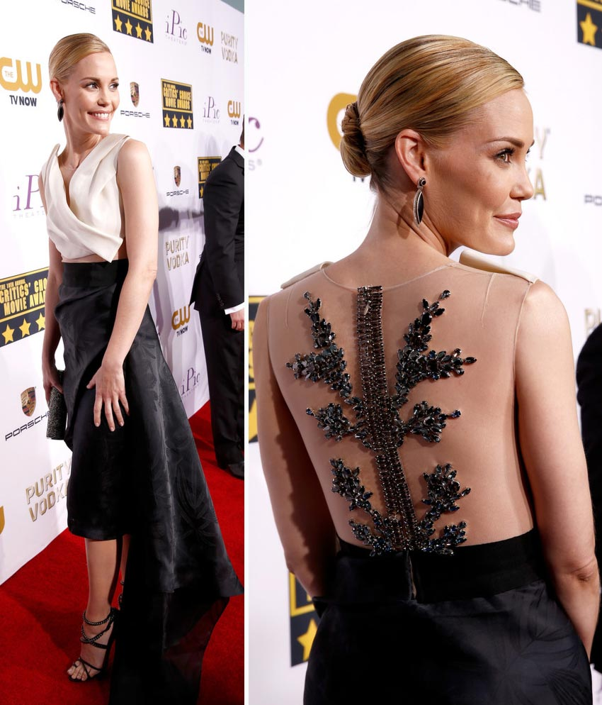 Leslie Bibb dress 2014 Critics Choice Awards