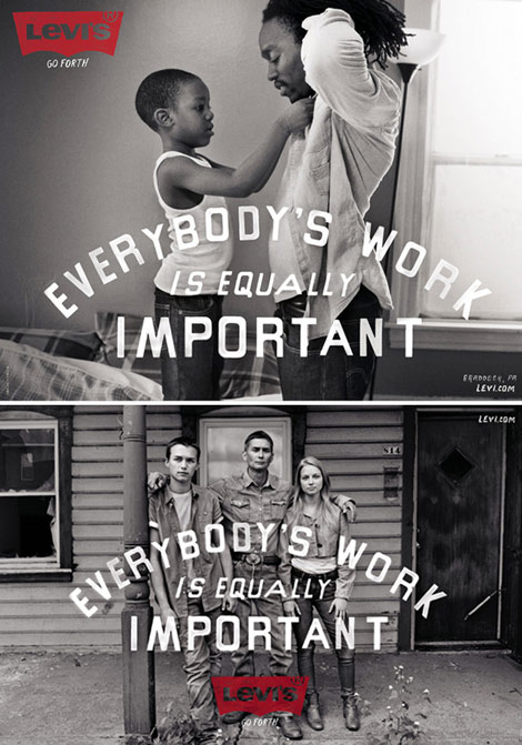 Levi's Everybody's Work Is Equally Important Go Forth Campaign