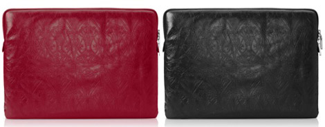 Liberty London embossed leather MacBook sleeve