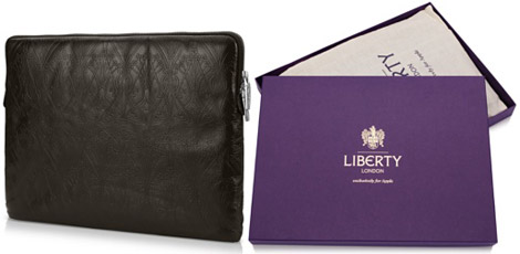 Liberty London leather MacBook sleeve