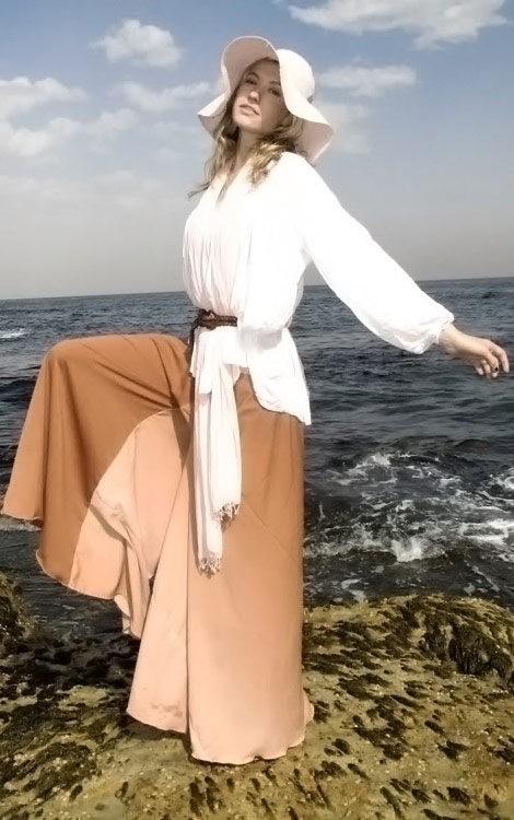 Light brown culotte summer cover up
