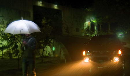 Lightdrops LED umbrella